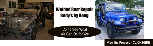 Welded rust repair services for auto rust damage and other body work in West Melbourne, Melbourne and Palm Bay.